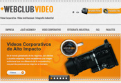 Diseño de pagina web para Webclub Video